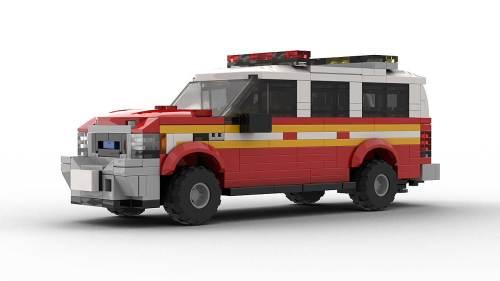 LEGO Ford Excursion FDNY Model