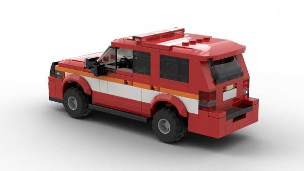 LEGO Chevrolet Tahoe Fire Dep 2012 Model Rear