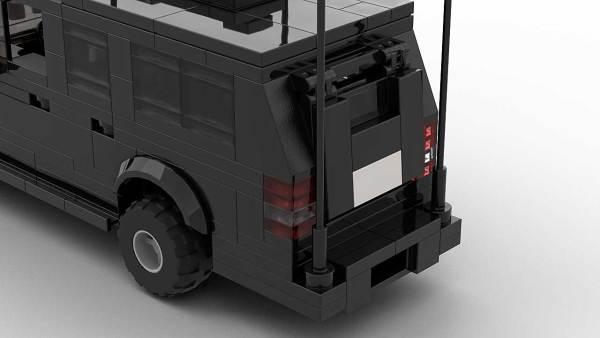 LEGO Chevrolet Suburban Secret Service Rear Doors Close Up