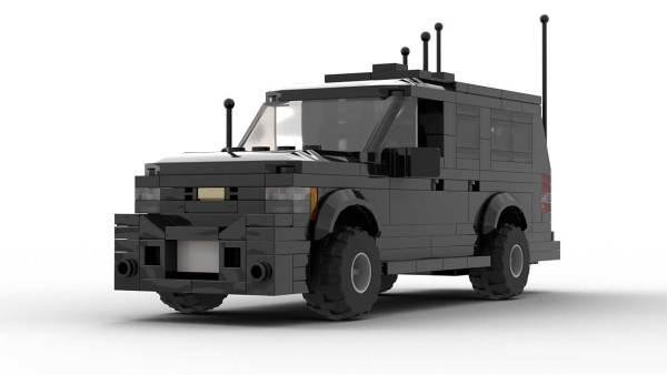 LEGO Chevrolet Suburban Secret Service Model Front