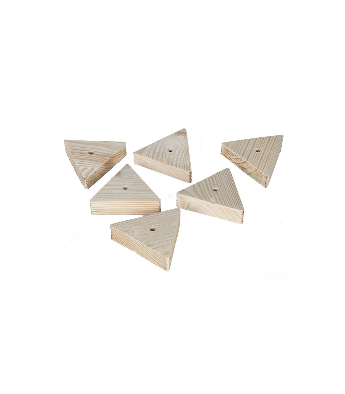 pieces en bois pour perroquets et perruches forme triangle