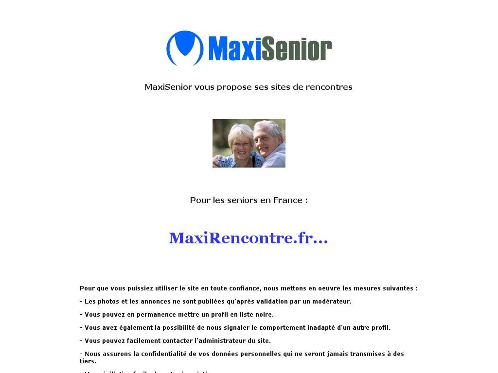 Maxi rencontre senior déjà inscrit