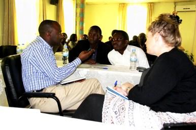 members discussing in groups