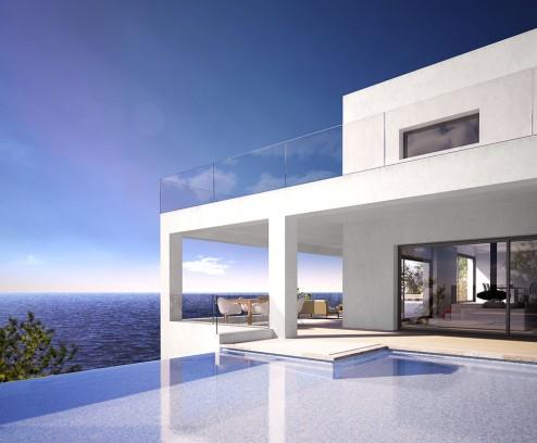 Infografia exterior arquitectura 3d ibiza