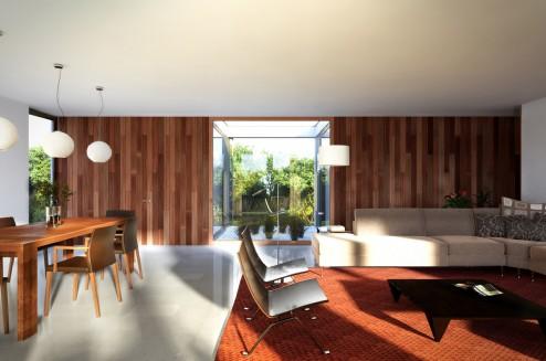 Renders exteriores e interiores de una vivienda unifamiliar aislada en Cala Pi, Mallorca (6/6)