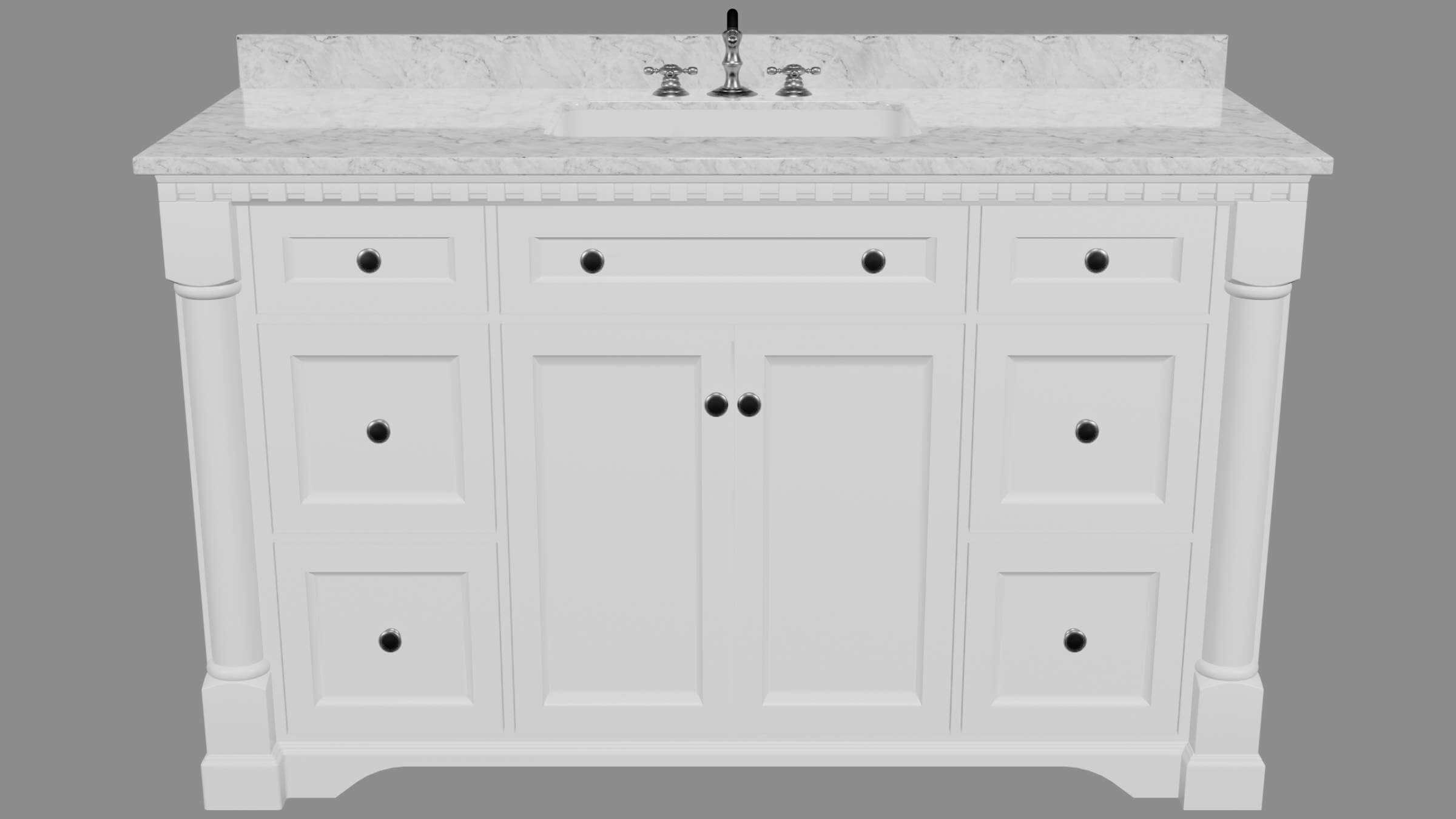sydney 60 inch bath vanity 60 inch 3d model