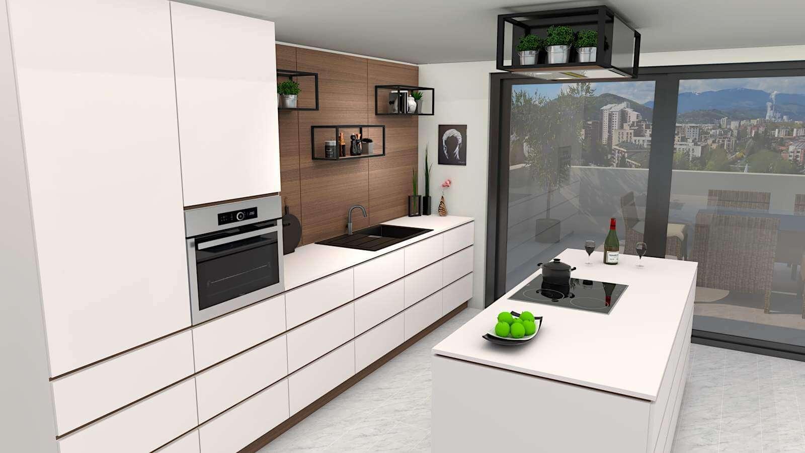 Modern Kitchen Free 3D Model on Modern Model Kitchen  id=92069