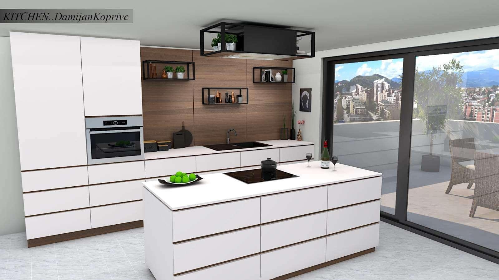 Modern Kitchen Free 3D Model on Modern Model Kitchen  id=76786