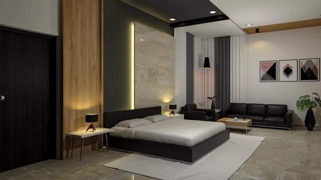 modern bedroom rendering 3D Rendering   RenderHub Gallery