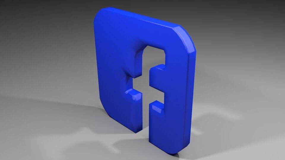 Download red facebook instagram neon logo icon png. Facebook Icon Logo 3d Model