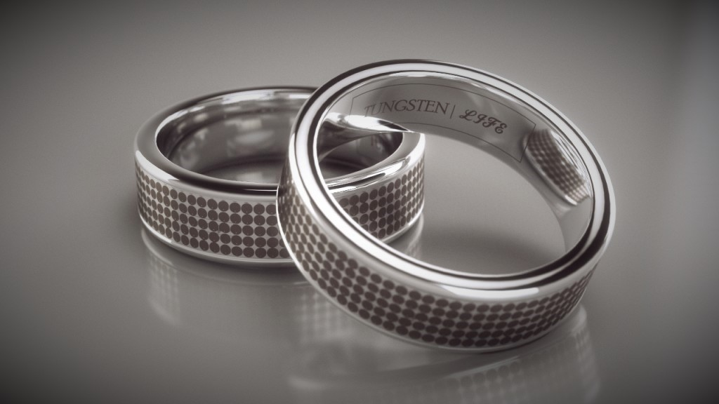 Jewelry Rendering – Tungsten Rings 3D Studio Max & Vray