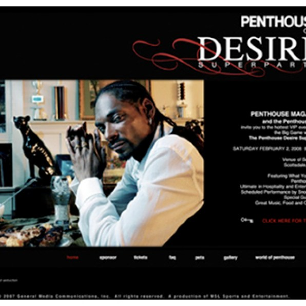 Penthouse Desire Super Party • Event Website