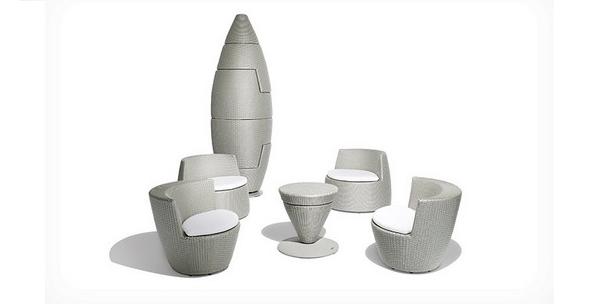 mobilier de salon design et empilable