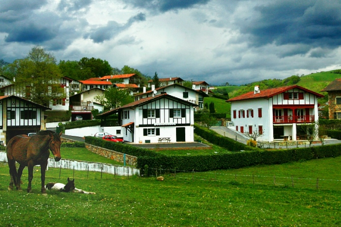 The basque village of Ainhoa