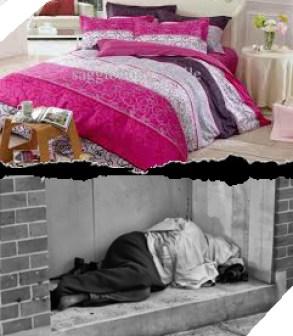 Etre dans de beaux draps lorsque l'on n'a pas de lit!