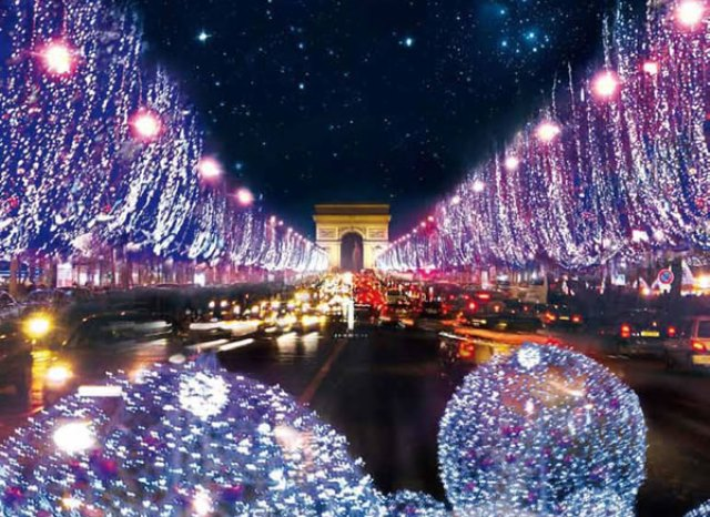 RVF Christmas lights in France: Champs-Elysees, Paris