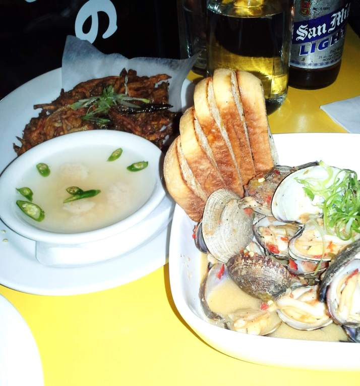 Manilla Clams and Shrimp Pancake