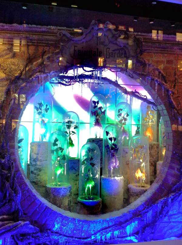 Lord and Taylor holiday window, the Fairytale Garden