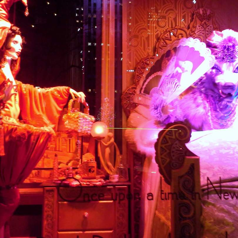 Riding Hood in Saks Fifth Avenue holiday window