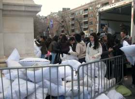 Pillows that made it were donated