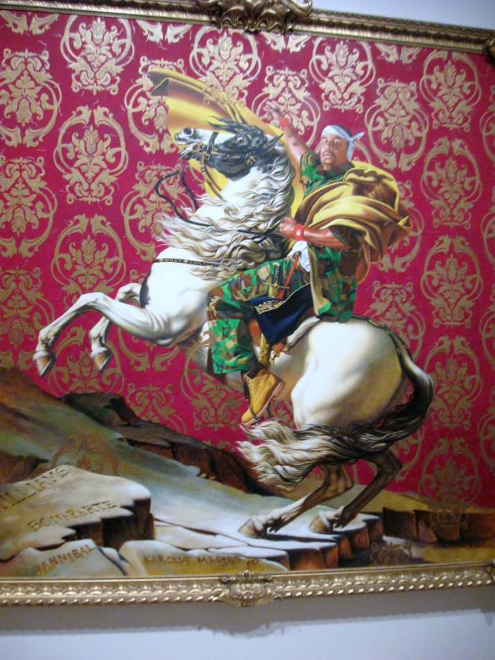 Napoleon Leading the Army Over the Alps, oil on canvas #KehindeWiley