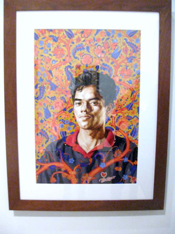 """Tree of Life II, oil wash on paper from the series, """"The World Stage: India- Sri Lanka"""" #KehindeWiley"""