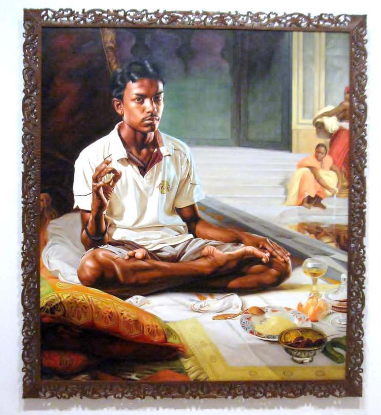"""The White Slave , oil on canvas, from the series , """"The World Stage: India- Sri Lanka"""" #KehindeWiley"""