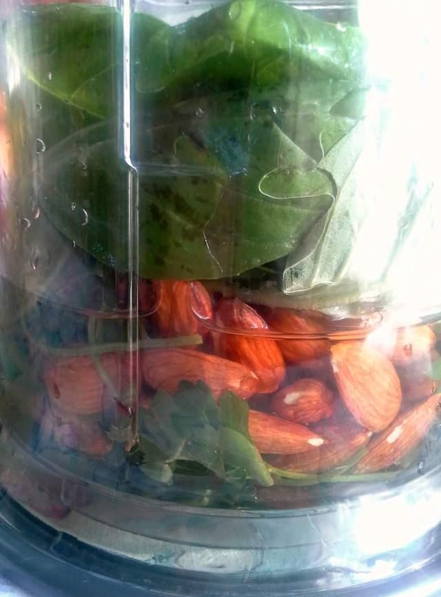 Basil Pesto with almonds