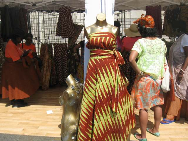 Handmade clothing at B.A.M. Dance Africa 2015