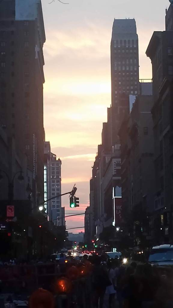 Cloudy Manhattanhenge 2015