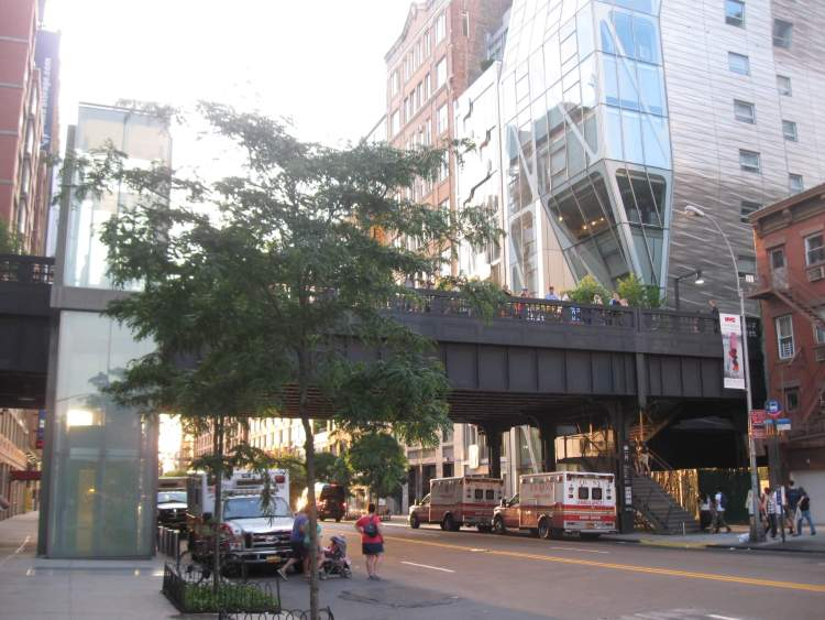 High Line Park entrace at 23rd street in NYC