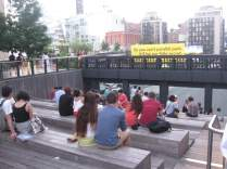 An ampitheater to people watch in style