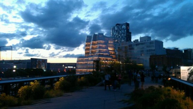 The High Line Park at Sunset, NYC