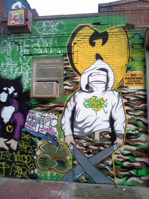 WuTang forever, Bushwick Collective, NYC,s treet art