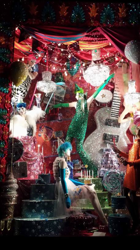Glitterati , the windows at Bergdorf's in NYC 2015, Christmas in July