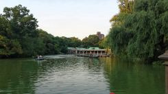 Boat house across from the Bethesda Fountain in Central Park , NYC