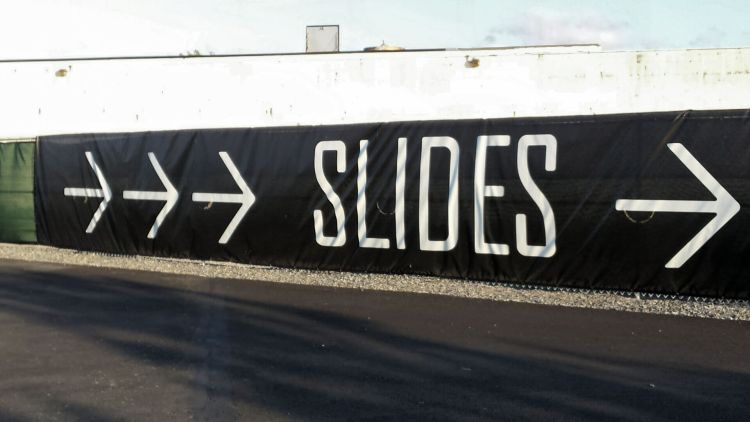 The slides on the Hills on Governor's Island, NYC