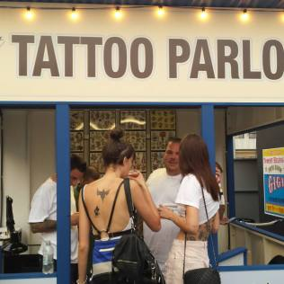 Tattoo Parlor at TommyXGigi Carnival in NYC