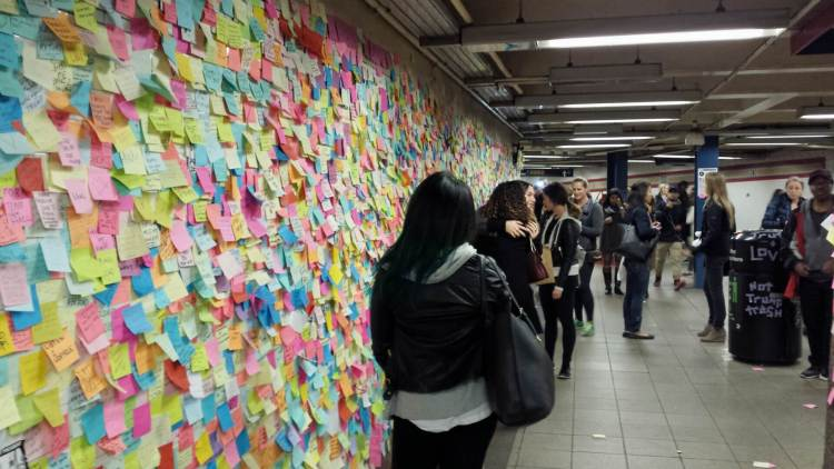 The Subway Therapy Wall inn NYC , Rendezvous En New York