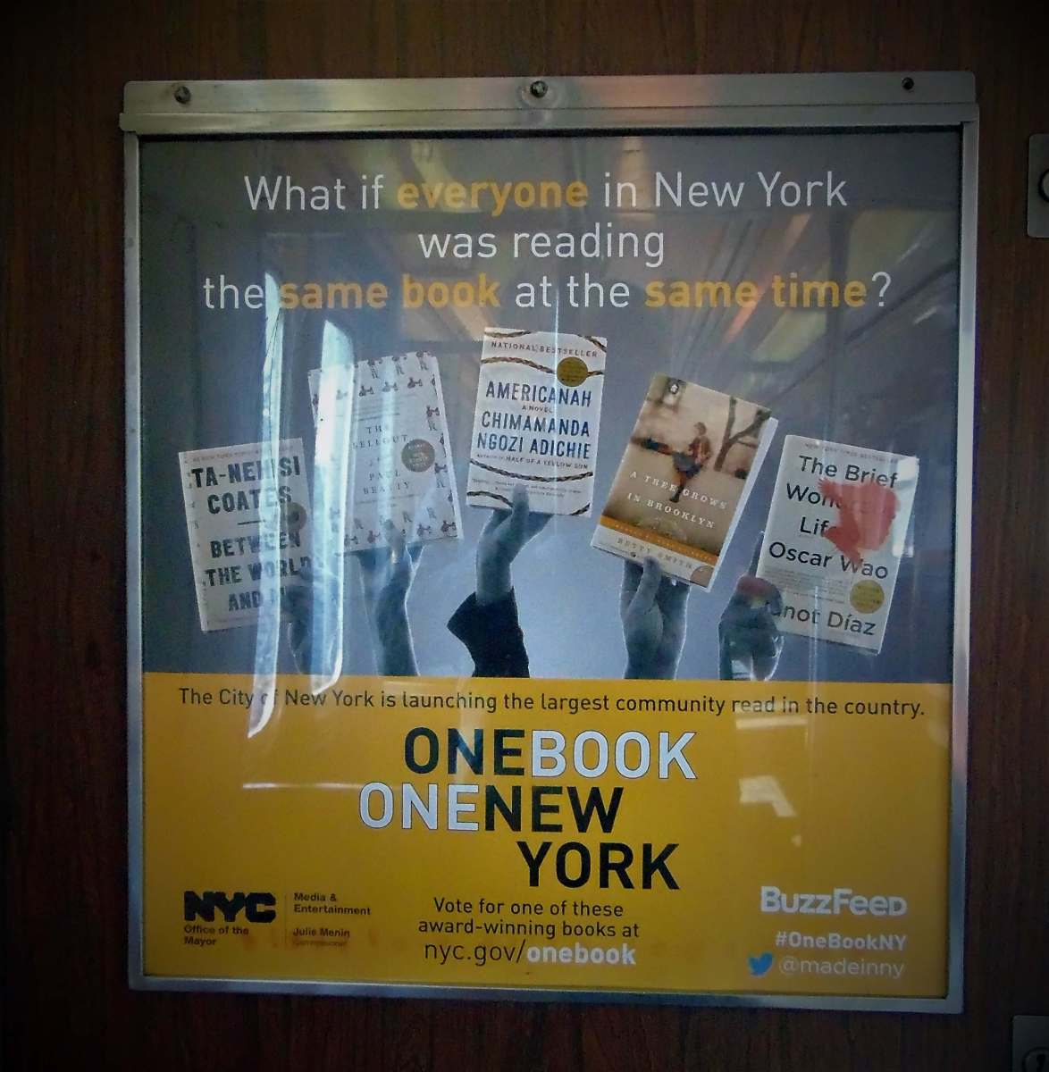 One Book One New York Gets NYC Reading