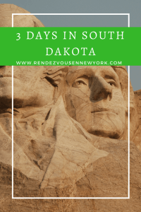 3 days in South Dakota