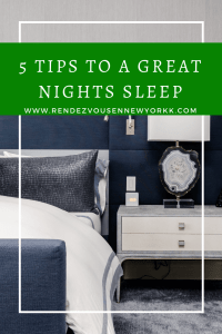 5 tips to a great nights sleep