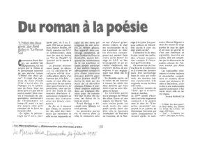 thumbnail of Du roman à la poésie – La Marseillaise