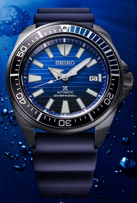 Seiko Automatik Prospex Samurai Save the Ocean Black Series SRPD09K1