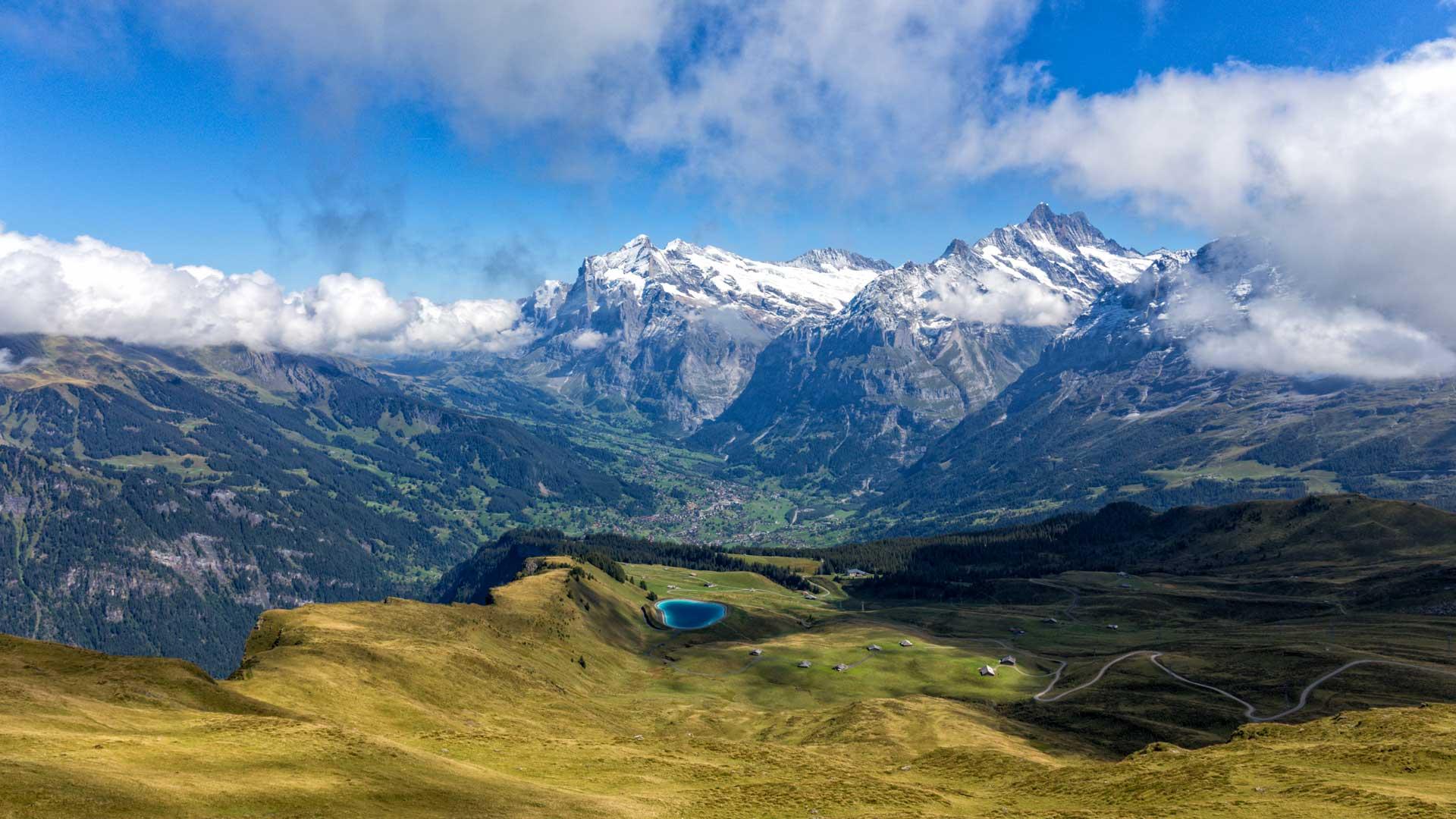 Aussicht nach Grindelwald
