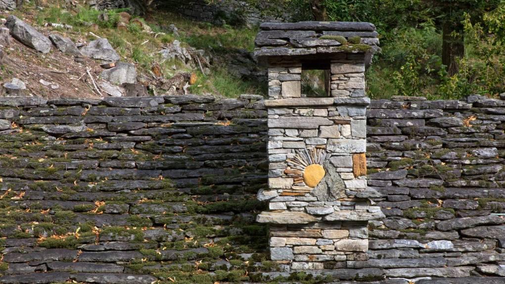 Detail eines Rustico in Streccia