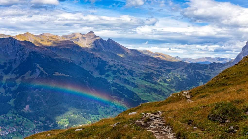 Regenbogen ohne Regen