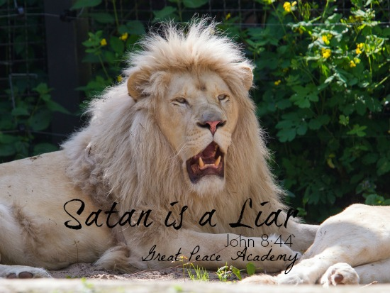 Satan is a liar, devotional thought at Great Peace Academy