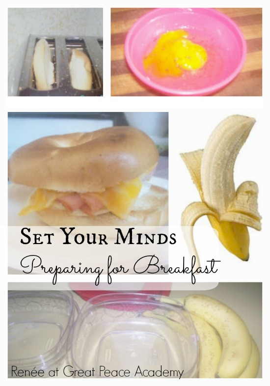 Set Your Minds by Preparing for Breakfast, devotional thoughts at Great Peace Academy