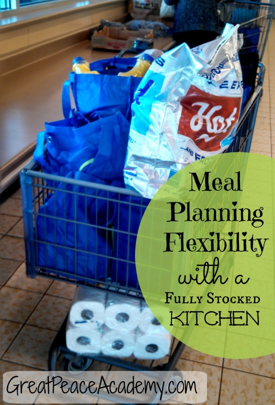 Meal planning with stocked kitchen via Great Peace Academy